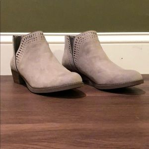 Shoes - Carlos Short Light Suede Booties